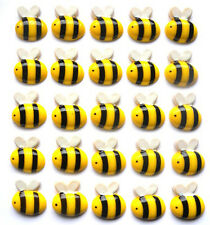 WHOLESALE - 25 GORGEOUS BUMBLE BUSY BEE RESIN FLATBACKS CABOCHONS - FAST P&P