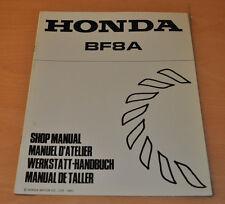 HONDA BF8A Aussenbordmotoren Boarder Stand 1991 Nachtrag Werkstatthandbuch