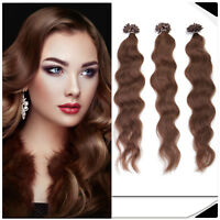 USA Stock 20'' 25g 1g/s Natural Wave Keratin U Nail Tip Human Hair Extensions