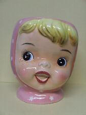 Vintage Napco Miss Cutie Pie (Pink) Cookie Jar Base (#A3505/PI)
