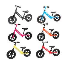 "12"" Kids Balance Bike No Pedal Child Training Bicycle w/ Adjustable Seat"