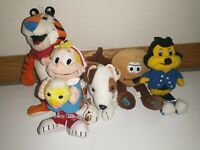 Advertising Toy Plush Lot Tony Tiger Country Buffet Wishbone Macadamia Crackle