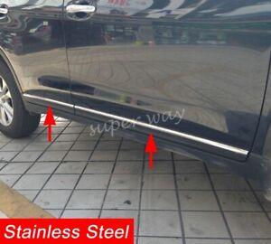 Exterior Steel Door Body Strip Trim Accessories For Nissan X-Trail T32 2014-2016