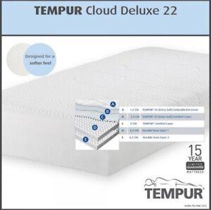 Tempur Cloud Deluxe 22 Memory Foam Mattress, Medium, King Size