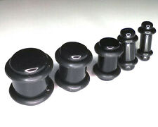 5pcs Ear stretchers Black ACRYLIC Ear Plugs  SADDLE TUNNELS  sizes 4-5-6-8-10mm