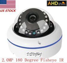 HD 1080P TVI AHD camera 2.0MP 180 Degree Wide Angle Fisheye Dome IR Security CAM