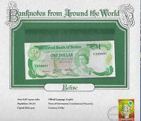 World Banknotes Belize P-43 $1 Dollar 1983 UNC Prefix A/7
