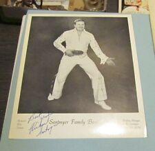 Vintage Richard Santmyer as Elvis Presley Impersonator Autograph Signed Photo