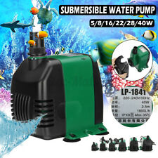 5-40W 220-240V Submersible Water Pump Filter Fish Aquarium Tank Fountain Pond