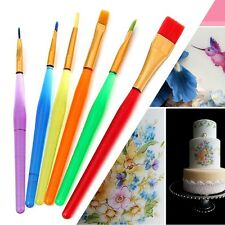 Hot Sale 6Pcs Fondant Cake Decorating Painting Brush Flower Modeling Tool