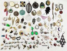 100+ EARRINGS LOT Singles Rhinestones Vintage Modern Jewelry Craft Harvest