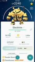 Pokemon Go - ULTRA LEAGUE 2500CP PVP - Electivire Legacy-with double charge move