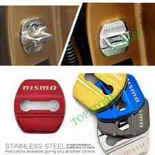 4X Stainless Steel Car Door Lock Striker Protective Cover For nismo Accessories