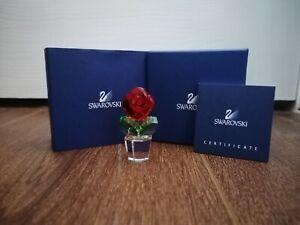SWAROVSKI HAPPY FLOWERS RARE RED ROSE 855896 FIGURINE HEIGHT 5cm BRAND/NEW