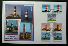 Germany Lighthouse 2005 Ocean Marine (stamp FDC) *Rare *normal + adhesive