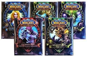 Opened World of Warcraft Spring 2012 Champion Deck Set of All 5 WoW TCG CCG