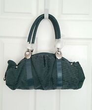 Authentic Folli Follie Nylon Leather Hobo Shoulder Bag Handbag Teal Blue NWOT