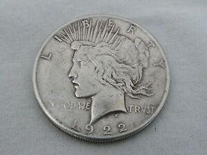 1922 S U.S. Peace Silver Dollar CR-9