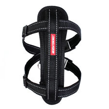 EazyDog Chest Plate Harness With Car Restraint Seat Belt Attachment - Large Blac