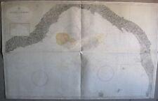 MAPPA CARTA NAUTICA DA NIZZA A PIOMBINO LIVORNO VIAREGGIO LA SPEZIA LIGURIA 1960