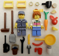 NEW LEGO LUNCH LADY & JANITOR Bride & Groom MINIFIG LOT valentines minifigures