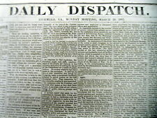 1865 Confederate Civil War newspaper BATTLE OF KINSTON North Carolina GOLDSBORO