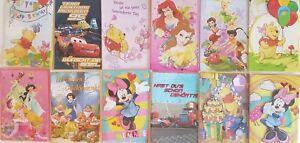 Disney Glückwunsch Karten Geburtstag Grußkarte Kind Baby Glückwunschkarten OVP