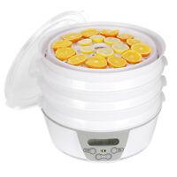 Digital Electrical Food Dehydrator Adjustable Thermostat Auto Shut Off 6 Tier