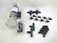Impianto a pioggia 12V pompa raccordi e ugelli per raffrescamento nebulizzazione