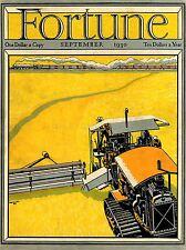 Magazine Fortune 1930 la ferme Art Poster Print lv2005