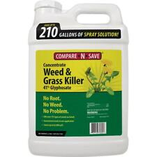 Grass Weed Killer Glyphosate Concentrate Liquid Form Outdoor Non Organic 2.5 Gal