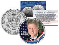 President BILL CLINTON * In Office 1993-2001 * JFK Half Dollar Colorized US Coin