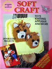 P/B Book - SOFT CRAFT - Ribbonwork Smocking Quilting Knit Crochet - 28 Projects