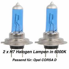 2x Halogen Lampen H7 55W 12V Abblendlicht Xenon Optik 6000K Für Opel CORSA D