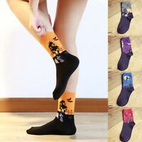 Women Halloween Party Haunted House Print Cotton Middle Tube Socks Newly