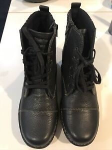 Clarks Whistle Bea Boots Black Size 10 M Me Without Box