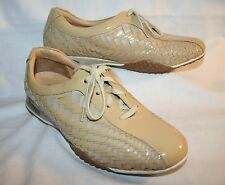 Cole Haan Nike Air Bria Taupe Woven Oxford Leather Womens Sneakers 9.5 B Shoes