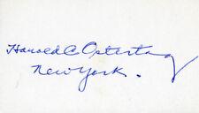 Harold C. Ostertag - Signature(S)