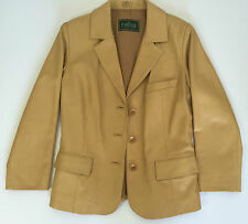 Forester giacca vera pelle vintage 44 46 leather manica lunga donna usato T179
