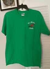 BILL MULLIN STABLE Embroidered Green T-shirt M Horse Racing Jockey Equesterian