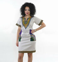 Dashiki Dress Plus Size Traditional Priant Dresses African Clothing Women Tribal
