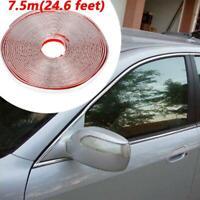 7.5M 10mm Car Chrome Moulding Trim Strip Grille Bumper Door Scratch Guard Decor