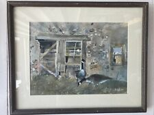Lou Taylor Watercolor Of Geese