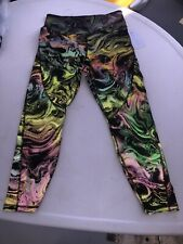 BNWT! $198 Athleta Lightning Reflective 7/8 Tight Leggings Womens Medium Running