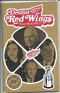 1976-77 Detroit Red Wings hockey Media Guide Facts Book