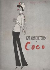 KATHERINE HEPBURN IN COCO 1971 PROGRAM