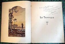 *LE TRIPTYQUE, POÈMES DE LA CÔTE D'ARGENT*par Maurice MARTIN E.O. 1922 Ex. LXIV