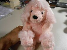 Beautiful Soft Pink Poodle Dog Plush with matching Pink Ribbons on each ear!