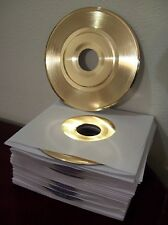 Blank Gold Plated 45 Record RIAA Quality to Custom Customize Award Trophy Vinyl