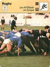 FICHE CARD: France - All Blacks Nouvelle-Zélande 1977 RUGBY à XV 1970s